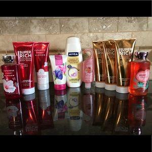 Bath & Body Work Body Wash Lot of 10 & 2 Brands